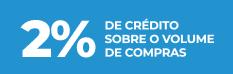 Ganhe 2% de crédito sobre o volume de compras efectuadas pelo WinOrder